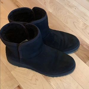 Uggs black mid boots black 7.5 gently worn